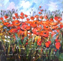 Field with flowers-70x70 cm - EURO 1390