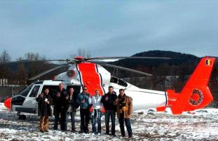 Helicopter trip in Transylvania